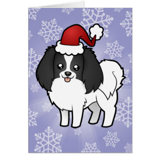 Christmas Phalene / Japanese Chin Card
