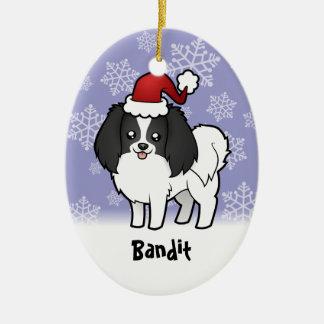 Christmas Phalene / Japanese Chin Christmas Ornament