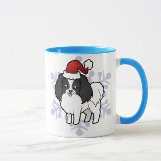 Christmas Phalene / Japanese Chin Mug