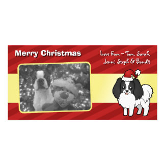 Christmas Phalene / Japanese Chin Photo Cards
