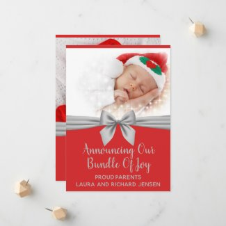 Christmas Photo Baby Announcement