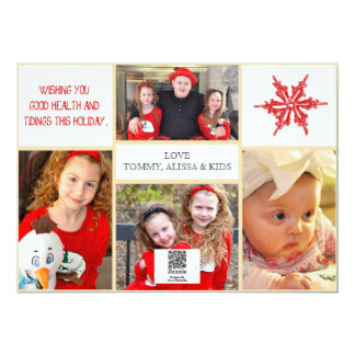 Christmas Photo Card - 4 photos Front & Back