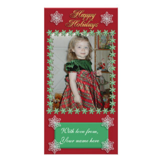 Christmas photo card cookie frame