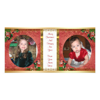 Christmas photo card double frame 2 pictures