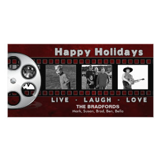 CHRISTMAS PHOTO CARD - FILM STRIP - HAPPY HOLIDAYS