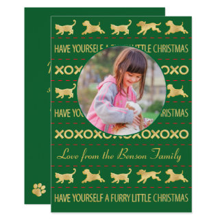 "Christmas Photo Card ""Furry Little Christmas"""