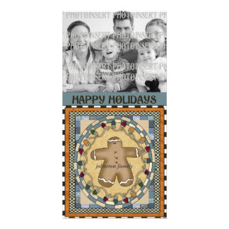 Christmas Photo Card - Gingerbread Man