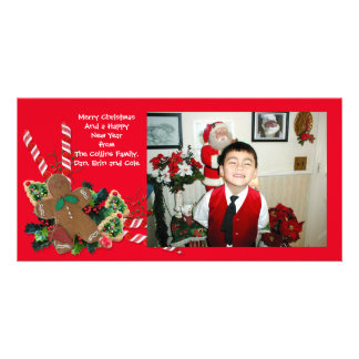 Christmas Photo card gingerbread man