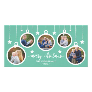 Christmas Photo Card, Holidays, Ornaments Customised Photo Card