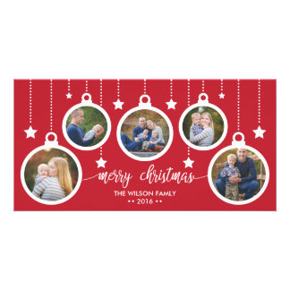 Christmas Photo Card, Holidays, Ornaments Customized Photo Card