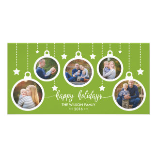 Christmas Photo Card, Holidays, Ornaments Photo Card