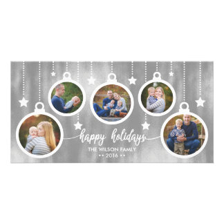 Christmas Photo Card, Holidays, Ornaments Photo Card Template