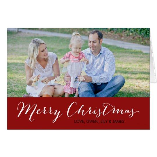Christmas Photo Card - Merry Christmas - Red