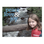 Christmas Photo Card - Peace Love and Joy Post Cards