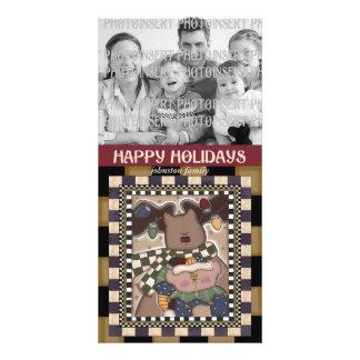Christmas Photo Card - Reindeer Elves