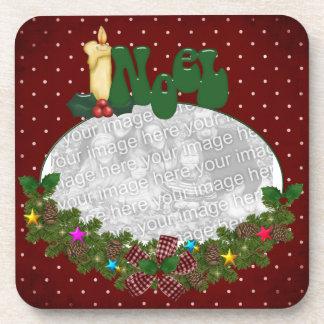 Christmas photo coaster set template