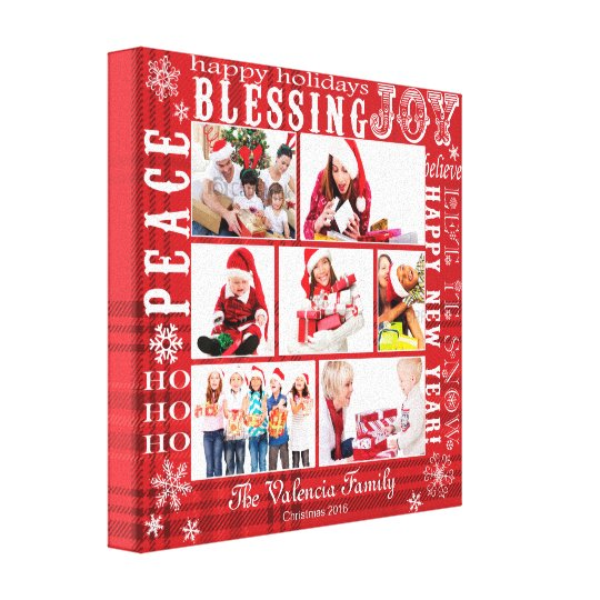 CHRISTMAS PHOTO COLLAGE-FULLY CUSTOMIZABLE CANVAS