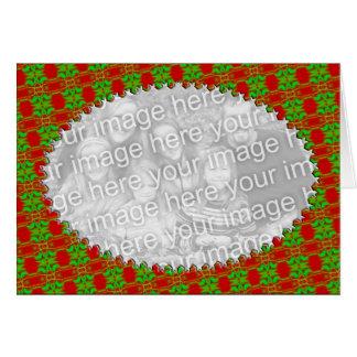 Christmas photo frame greeting cards