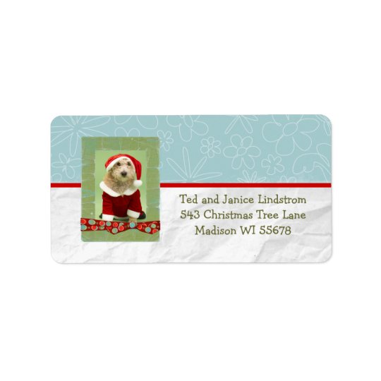 Christmas Photo Frame Custom Personalised Label