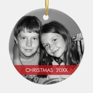 Christmas Photo Frame - Modern Round Ceramic Decoration