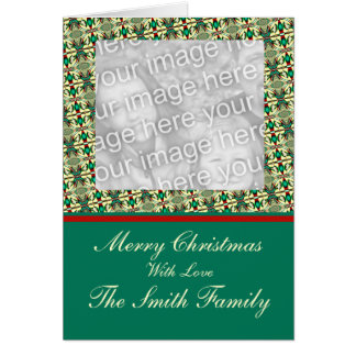 Christmas Photo Frame Template Greeting Card