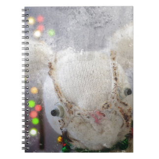 Christmas Photo Holiday Greeting Card Spiral Notebooks