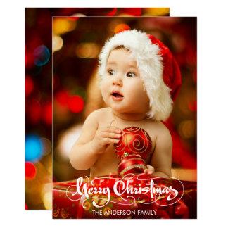 Christmas Photo Holiday Stylish Script Card