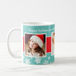 Christmas Photo Mug | Snowflake Border