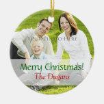 Christmas Photo Ornament Custom Template