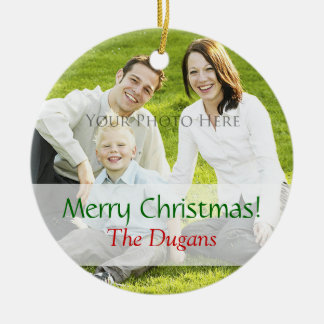 Christmas Photo Ornament Custom Template