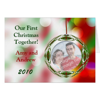 Christmas Photo Ornament Greeting Card