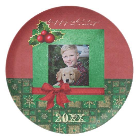 Christmas Photo Plate
