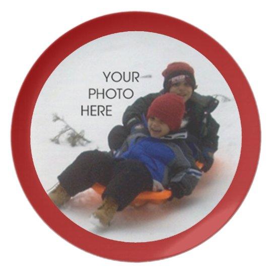 Christmas Photo Template Plate