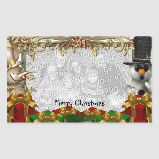Christmas Photo Template Sticker