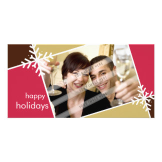 CHRISTMAS PHOTOCARD :: modernista snowflake L1 Personalized Photo Card