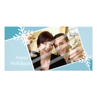 CHRISTMAS PHOTOCARD :: modernista snowflake L3 Customised Photo Card