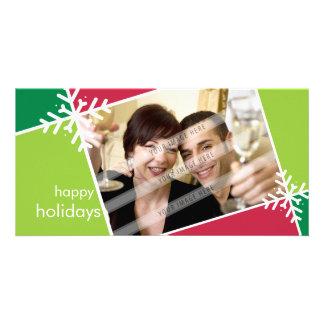 CHRISTMAS PHOTOCARD :: modernista snowflake L5 Photo Card Template
