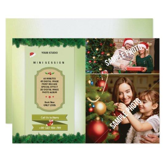 Christmas Photography Mini Session Card