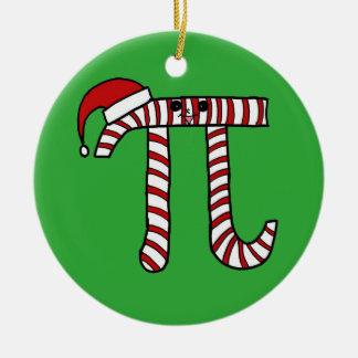 Christmas Pi Cartoon Math Geek Christmas Ornament