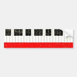 Christmas Piano Bumper Sticker