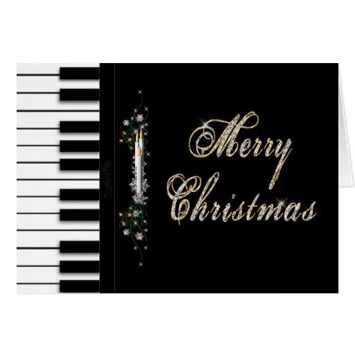 Christmas - Piano - Musical Card