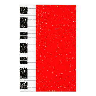 Christmas Piano Personalized Stationery