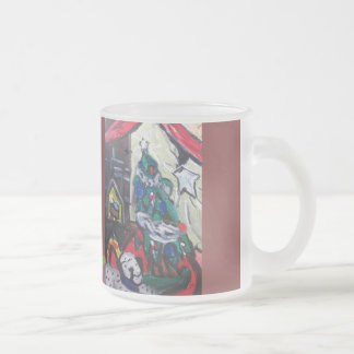 Christmas picture frosted glass coffee mug