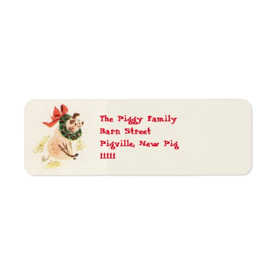 Christmas Pig Address Labels