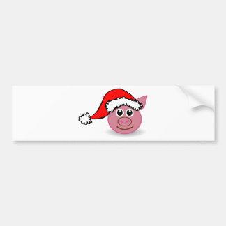 christmas pig bumper sticker