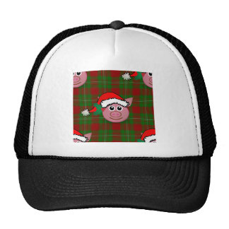 christmas pig cap