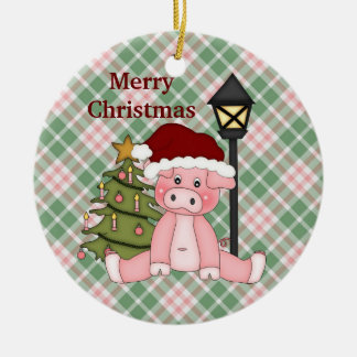 Christmas Pig holiday ornament