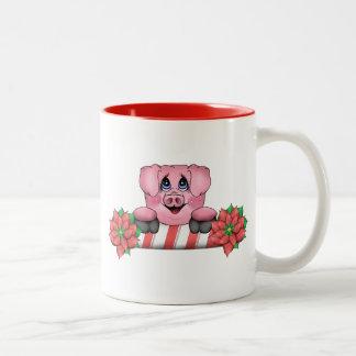 Christmas Pig Mug