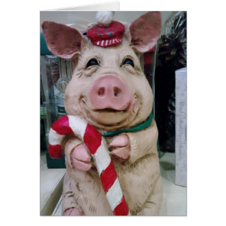 CHRISTMAS PIGGY WISHES CARD