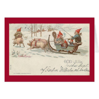 Christmas pigs card